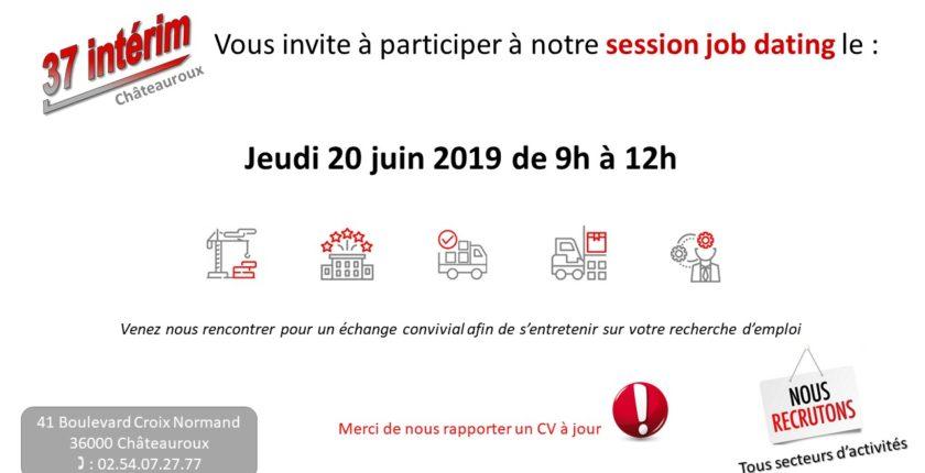 JOB DATING CHATEAUROUX LE JEUDI 20 JUIN 2019 DE 9H A 12H